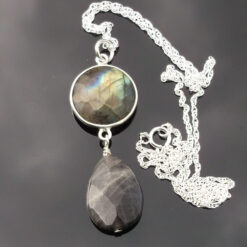Labradorite and Sterling Silver Pendant.