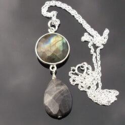 Labradorite and Sterling Silver Pendant.