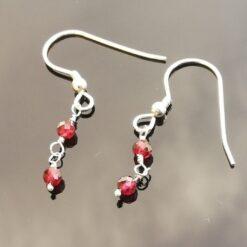 Sterling Silver Garnet Earrings