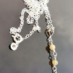 Opal drop Silver Necklace