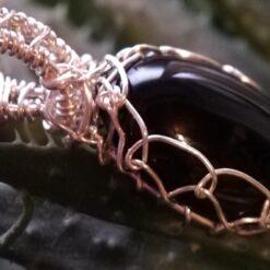 Black Agate Sterling Silver Pendant