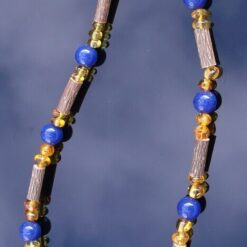 Baltic Amber, Hazelwood & Lapis Lazuli Necklace