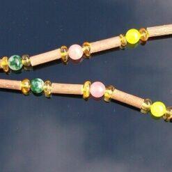 Amber, Hazelwood and Quartz Necklace