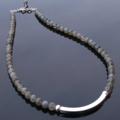 Labradorite necklace with Serling Silver