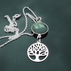 Labradorite with Tree Of Life Pendant.