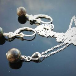 Black Opal necklace and earring set