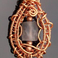 Wire Wrapped Flourite pendant