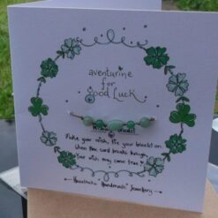 Green Aventurine Wish Bracelet Card