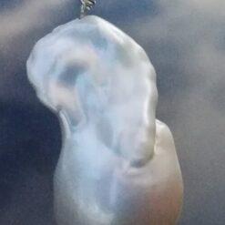 White Baroque pearl pendant