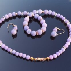 Lavender Opal Necklace Earring Set