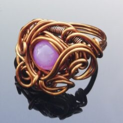 Purple Agate wire ring