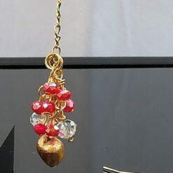 Gold Heart dangle earrings