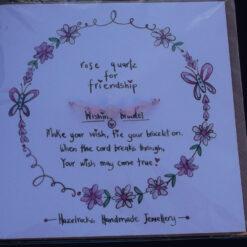 Rose Quartz Wish Bracelet Card