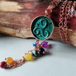 triskele chakra rose gold plated necklace