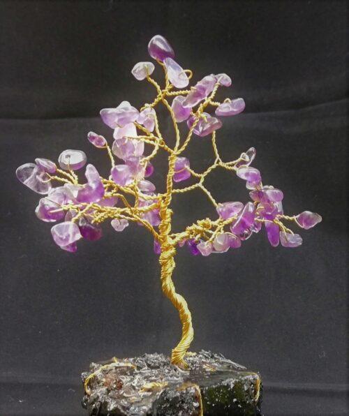 Amethyst tree of lfe sculpture