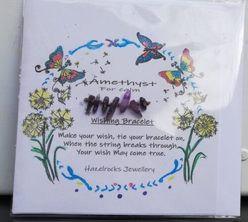 Amethyst wish bracelet card
