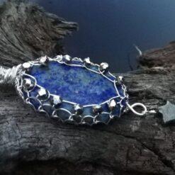 Lapis Lazuli pyrite pendant