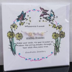 Moonstone Wish bracelet card