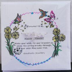 Quartz Wishing bracelet Card