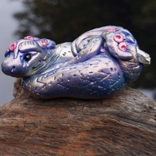 purple blue baby dragon