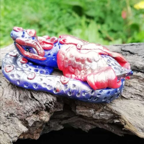 red blue baby dragon