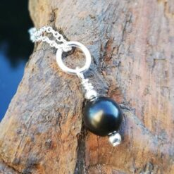 Shungite necklace Sterling Silver