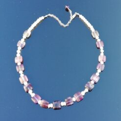 Fluorite moonstone necklace