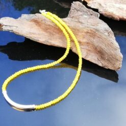 Yellow necklace sterling silver