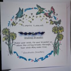 Lapis Lazuli wish bracelet card