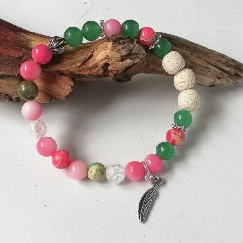 essential oil diffuser bracelet aventurine quartz