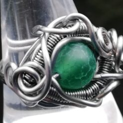 Dark green dragon eye wire ring