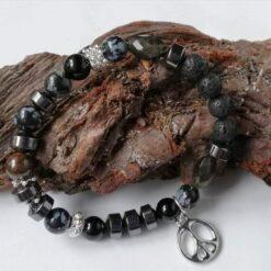 Essential Oil Diffuser Bracelet Obsidian