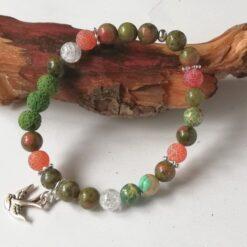 Essential Oil diffuser bracelet, greens