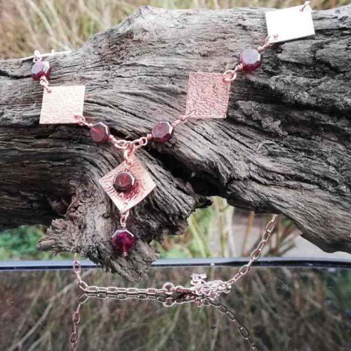 Garnet Rose Gold copper jewellery