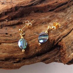 Abalone necklace earrings