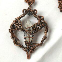 clear Quartz pendant wire wrapped Celtic style