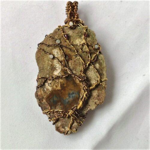 Tree of Life Agate Slice pendant