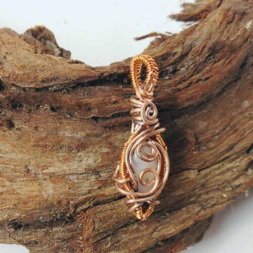 Pink Beryl wire pendant