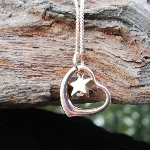 star and heart pendant necklace