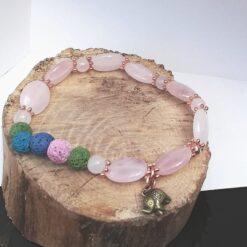 Essential Oil Bracelet Rose quartz