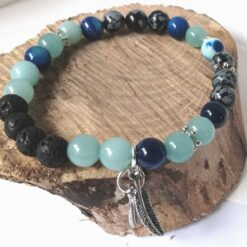 Essential Oil Aromatherapy Bracelet blue gemstones