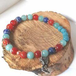 Essential oil bracelet orange blue rose gold