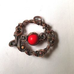 wire wrapped pendant red stone