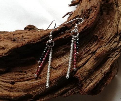 Topaz Garnet Spinel tassel earrings