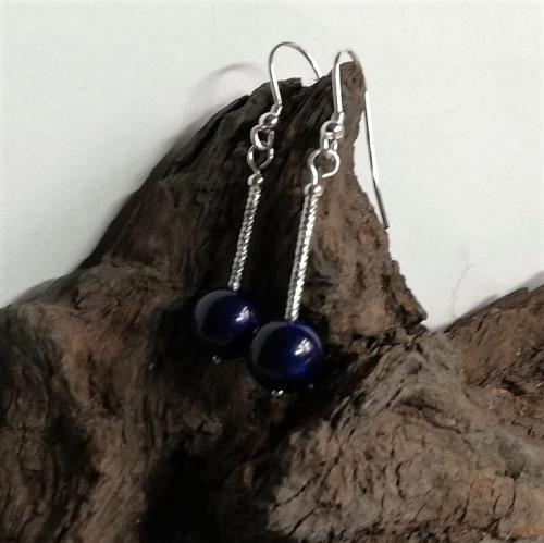 Lapis Lazuli earrings sterling silver