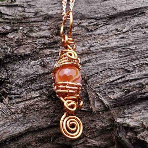 Orange Agate pendant